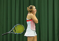 Rotterdam, The Netherlands, March 13, 2016,  TV Victoria, NOJK 12/16 years, Perla Nieuwboer (NED) wins the girls 16 years and celebrates.<br /> Photo: Tennisimages/Henk Koster