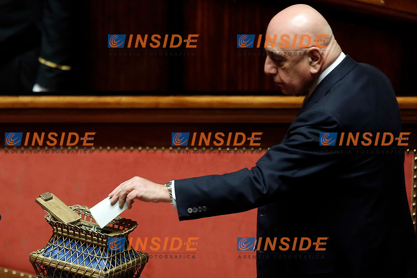 Adriano Galliani<br /> Roma 23/03/2018. Prima seduta al Senato dopo le elezioni.<br /> Rome March 23rd 2018. Senate. First sitting at the Senate after elections.<br /> Foto Samantha Zucchi Insidefoto