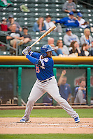 O'Koyea Dickson (23) of the Oklahoma City Dodgers at bat against the Salt Lake Bees in Pacific Coast League action at Smith's Ballpark on May 27, 2015 in Salt Lake City, Utah.  (Stephen Smith/Four Seam Images)