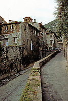 Italy: Gubbio--Paved rivercourse through town. Photo '83.