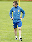 Spain's assistant coach Albert Celades during preparing training stage to Euro 2016. May 30,2016.(ALTERPHOTOS/Acero)