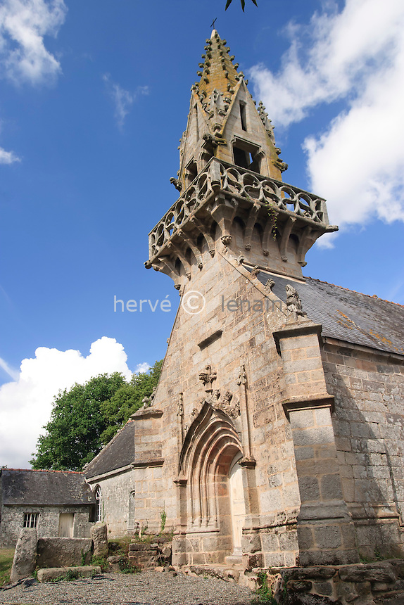 France, Morbihan (56), Lignol, hameau de Saint-Yves, la chapelle Saint-Yves // France, Morbihan, Lignol, hamlet of Saint-Yves, chapel Saint-Yves