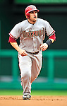 15 August 2010: Arizona Diamondbacks catcher Miguel Montero in action against the Washington Nationals at Nationals Park in Washington, DC. The Nationals defeated the Diamondbacks 5-3 to take the rubber match of their 3-game series. Mandatory Credit: Ed Wolfstein Photo