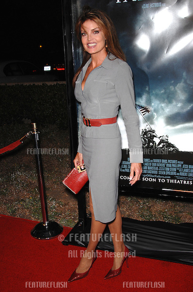"TRACY SCOGGINS at the Los Angeles premiere of ""Flags of our Fathers""..October 9, 2006  Los Angeles, CA.Picture: Paul Smith / Featureflash"