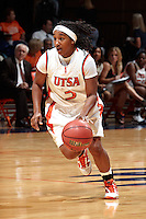 SAN ANTONIO, TX - NOVEMBER 12, 2010: The Our Lady of the Lake University Saints vs. the University of Texas at San Antonio Roadrunners Women's Basketball at the UTSA Convocation Center. (Photo by Jeff Huehn)