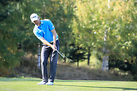 Michael Hoey (NIR) in action during the second round of the Kazakhstan Open presented by ERG played at Zhailjau Golf Resort, Almaty, Kazakhstan. 14/09/2018<br /> Picture: Golffile | Phil Inglis<br /> <br /> All photo usage must carry mandatory copyright credit (© Golffile | Phil Inglis)