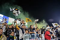 CARSON, CA - MARCH 07: Fans and Supporters of the Los Angeles Galaxy during a game between Vancouver Whitecaps and Los Angeles Galaxy at Dignity Health Sports Park on March 07, 2020 in Carson, California.