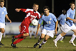 10 November 2010: UNC's Michael Farfan (19) and NC State's Tyler Lassiter (12). The University of North Carolina Tar Heels the North Carolina State University Wolfpack at Koka Booth Stadium at WakeMed Soccer Park in Cary, North Carolina in an ACC Men's Soccer Tournament Quarterfinal game.