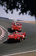 August 26th 1984, Laguna Seca Raceway, CA. 1957 Ferrari 315 S. This is the largest concentration of Ferrari, more than 3.000 models and proud owners show their cars and race with them.
