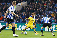 Wayne Routledge of Swansea City (C) in action during the Sky Bet Championship match between Sheffield Wednesday and Swansea City at Hillsborough Stadium, Sheffield, England, UK. Saturday 09 November 2019