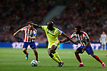 Getafe CF's Allan-Romeo Nyom during La Liga match. Aug 18, 2019. (ALTERPHOTOS/Manu R.B.)Getafe CF's Allan-Romeo Nyom  during the Spanish La Liga match between Atletico de Madrid and Getafe CF at Wanda Metropolitano Stadium in Madrid, Spain