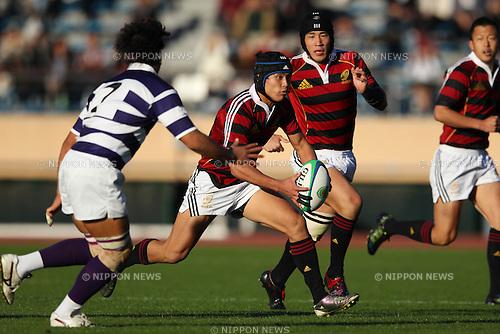 Junpei Ogura (Waseda), DECEMBER 4, 2011 - Rugby : Kanto Intercollegiate Rugby Games between Waseda University 18-16 Meiji University at National Stadium, Tokyo, Japan. (Photo by YUTAKA/AFLO SPORT) [1040]