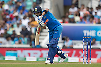 Virat Kolli (India) pushes into the on side during India vs New Zealand, ICC World Cup Warm-Up Match Cricket at the Kia Oval on 25th May 2019