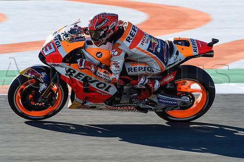 11th November 2017, Gran Premio Motul de la Comunitat Valenciana, Valencia, Spain; MotoGP of Valencia, Saturday qualifying; Marc Marquez (Repsol Honda) during the qualifying sessions