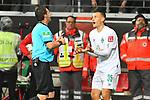 06.10.2019, Commerzbankarena, Frankfurt, GER, 1. FBL, Eintracht Frankfurt vs. SV Werder Bremen, <br /> <br /> DFL REGULATIONS PROHIBIT ANY USE OF PHOTOGRAPHS AS IMAGE SEQUENCES AND/OR QUASI-VIDEO.<br /> <br /> im Bild: Schiedsrichter Guido Winkmann, Maximilian Eggestein (#35, SV Werder Bremen)<br /> <br /> Foto © nordphoto / Fabisch