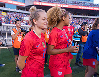 PHILADELPHIA, PA - AUGUST 29: Kristen Hamilton #25 of the United States waits for kickoff prior to a game between Portugal and the USWNT at Lincoln Financial Field on August 29, 2019 in Philadelphia, PA.