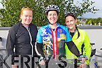 Niamh Burns, Aoife O'Reilly Killarney and Carmel Maddigan Kilcummin who participated in the Tour of Sliabh Luachra on Saturday