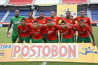 BARRANQUILLA -COLOMBIA-13-AGOSTO-2014. Formacion del Barraquilla FC  contra el Atletico Junior    ,  partido de la Copa Postobon octava fecha disputado en el estadio Metropolitano. / Team of Barraquilla FC  against of Atletico Junior , match of the Copa Postobon eighth round match at the Metropolitano stadium  Photo: VizzorImage / Alfonso Cervantes / Stringer