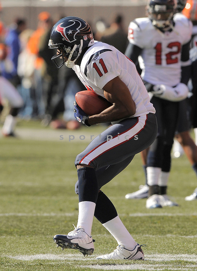 ANDRE DAVIS, of the Houston Texans in action against the Cleveland Browns during the Texans  game in Cleveland Ohio on November 16, 2008..The Texans win the game 16-6