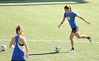 Portland, OR - Wednesday September 30, 2015: FC Kansas City train at Providence Park prior to the NWSL Championship Game.