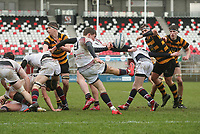 Wednesday 7th March 2018 |  RBAI vs Royal School Armagh<br /> <br /> Charlie Worth during the Ulster Schools Cup Semi-Final between RBAI vs Royal School Armagh Stadium, Ravenhill Park, Belfast, Northern Ireland. Photo by John Dickson / DICKSONDIGITAL
