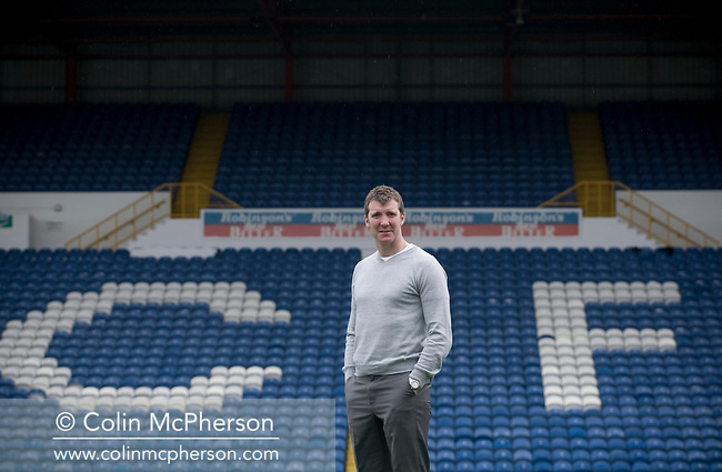 Stockport County manager Jim Gannon pictured at the club's Edgeley Park ground in Stockport, Cheshire. County were promoted up to league One following a play-off final victory over Rochdale at Wembley in May, 2008. Jim Gannon took over as manager of the club in 2006 and lead them to promotion after three seasons in League Two.