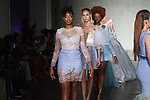 Models walk runway in outfits from the Sonia Jerry collection at Cope NYC, on October 11, 2019, during Fashion Week Brooklyn Spring Summer 2020.