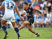 Issac Luke.<br /> NRL Premiership. Vodafone Warriors v Gold Coast Titans. Mt Smart Stadium, Auckland, New Zealand. March 17 2018. &copy; Copyright photo: Andrew Cornaga / www.Photosport.nz