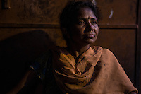 "Sonamoni Hembrom, 32 year old, lives in the slum of Balaram, in Jamshedpur. In 1995, her mother was accused of witchcraft and her father killed by some fellow villagers, who feared he might report to the police the accusations against the wife. The family had to leave the village of Chimihatu and all its properties behind. Two of her brothers were able to go back to their house only one month ago. ""Every night I feel so anxious that something might happen to them"", she says."
