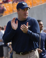 Pitt head coach Paul Chryst. The Pitt Panthers defeated the Virginia Tech Hokies 35-17 at Heinz field in Pittsburgh, PA on September 15, 2012.