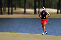 Jennifer Kupcho (USA) on the 18th during the second round of the Augusta National Womans Amateur 2019, Champions Retreat, Augusta, Georgia, USA. 04/04/2019.<br /> Picture Fran Caffrey / Golffile.ie<br /> <br /> All photo usage must carry mandatory copyright credit (&copy; Golffile | Fran Caffrey)