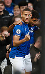 Richarlison of Everton celebrates scoring the first goal during the Premier League match at Goodison Park, Liverpool. Picture date: 7th December 2019. Picture credit should read: Simon Bellis/Sportimage
