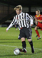 Jon Scullion on the ball in the St Mirren v Dunfermline Athletic Clydesdale Bank Scottish Premier League U20 match played at St Mirren Park, Paisley on 2.10.12.