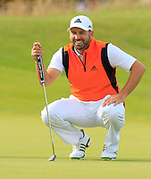 Sergio Garcia (ESP) on the 14th green during Thursday's Round 1 of the 145th Open Championship held at Royal Troon Golf Club, Troon, Ayreshire, Scotland. 14th July 2016.<br /> Picture: Eoin Clarke | Golffile<br /> <br /> <br /> All photos usage must carry mandatory copyright credit (&copy; Golffile | Eoin Clarke)