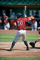 Freddy Fermin (20) of the Idaho Falls Chukars bats against the Ogden Raptors in Pioneer League action at Lindquist Field on July 2, 2017 in Ogden, Utah. Ogden defeated Idaho Falls 6-5. (Stephen Smith/Four Seam Images)