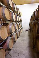 barrel aging cellar chateau le bourdillot graves bordeaux france