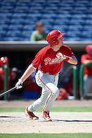 Philadelphia Phillies David Martinelli (17) during an Instructional League game against the New York Yankees on September 27, 2016 at Bright House Field in Clearwater, Florida.  (Mike Janes/Four Seam Images)