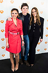 "Chenoa, Manel Fuentes and Monica Naranjo during the presentation of the new TV program of Antena 3, ""Tu cara no me suena"" at  Teatro Gran Maestre in Madrid. March 08, 2017. (ALTERPHOTOS/Borja B.Hojas)"