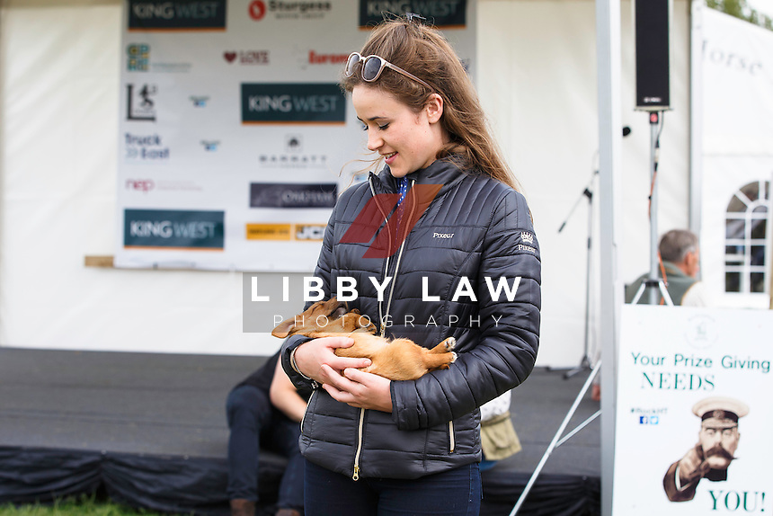 Hatty and Dougall - SO UBER CUUUTE I WANTED TO KEEP HIM... 2016 GBR-Rockingham International Horse Trial (Sunday 22 May) CREDIT: Libby Law COPYRIGHT: LIBBY LAW PHOTOGRAPHY