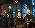 Hangmen by Martin McDonagh, directed by Matthew Dunster. With Graeme Hawley as Bill, David Morrissey as Harry, Reece Shearsmith as Syd, Simon Rouse as Arthur. Opens at The Royal Court Jerwood Theatre Downstairs on 18/9/15. CREDIT Geraint Lewis