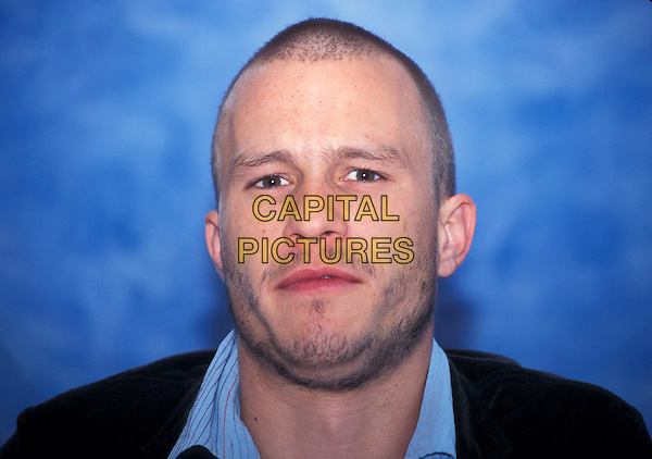 HEATH LEDGER.Ref: ND.headshot, portrait, funny face, facial hair, stubble.*RAW SCAN - photo will be adjusted for publication* .www.capitalpictures.com.sales@capitalpictures.com.©Capital Pictures .