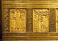 Reliquienschrein Elfenbein 10./11. Jh, San Millán de la Cogolla, Kloster Yuso, La Rioja, Spanien, Unesco-Weltkulturerbe