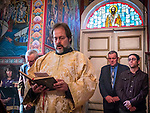 """Bishop Maxim visits St. Sava Church on December 1 for book signing with Milina Gajic-Jovanovic author of the book """"All Roads Lead to Jackson"""".<br /> <br /> Celebration of the Pomen to honor the founders of the church and the late Cedo Saraba"""