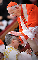 Cardinal Desmond Connell;Pope Benedict XVI The pontiff appointed two new bishops during the mass. the Solemnity of Epiphany at St Peter's basilica at the Vaticanon January 6, 2012 .