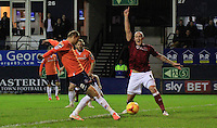 Paul Benson of Luton Town scores his second of the game during the Sky Bet League 2 match between Luton Town and Northampton Town at Kenilworth Road, Luton, England on 12 December 2015. Photo by Liam Smith/Prime Media Images.