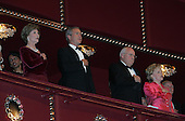 First lady Laura Bush, United States President George W. Bush, Vice President Dick Cheney, and Lynne Cheney attend the Kennedy Center Honors at the John F. Kennedy Center for the Performing Arts in Washington, D.C. on December 4, 2005. .Credit: Katie Falkenberg - Pool via CNP