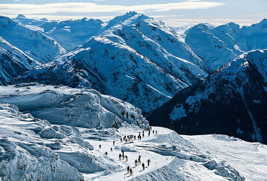Frontier Pass, Whistler Mountain, Whistler Blackcomb ski resort, British Columbia, Canada