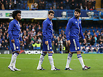 Chelsea's Willian, Oscar and Diego Costa look at the crowd after getting booed<br /> <br /> Barclays Premier League- Chelsea vs Sunderland - Stamford Bridge - England - 19th December 2015 - Picture David Klein/Sportimage