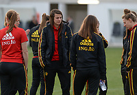 20180228 - LARNACA , CYPRUS :  Belgian Laura De Neve pictured before a women's soccer game between Spain and the Belgian Red Flames , on friday 2 March 2018 at the AEK Arena in Larnaca , Cyprus . This is the second  game in group B for  Belgium during the Cyprus Womens Cup , a prestigious women soccer tournament as a preparation on the World Cup 2019 qualification duels. PHOTO SPORTPIX.BE | DAVID CATRY