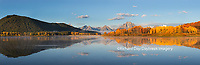 67545-08901 Sunrise at Oxbow Bend in fall, Grand Teton National Park, WY